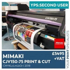 SM Second User Mimaki CJV150 75 2018 01 01