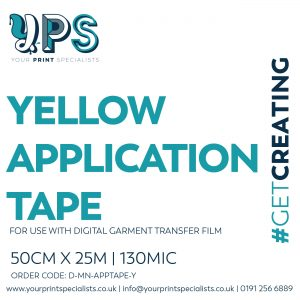 YPS Yellow Application Tape Label 01